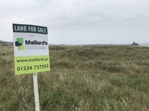 An image of the coastal duneland for sale in St Ouens Bay